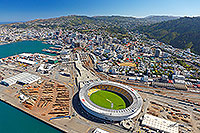 Wellingtion sports stadium aerial canvas print